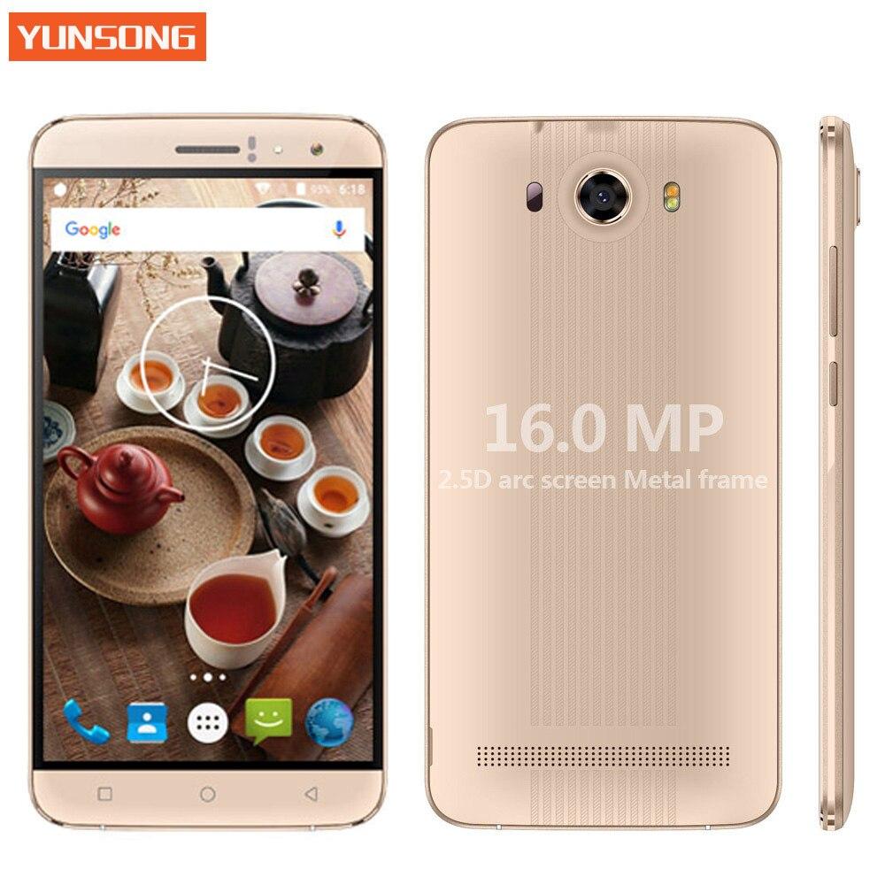 Mtk6580 16.0mp yunsong s10 plus 6.0 pulgadas qhd del teléfono móvil Quad Core Du