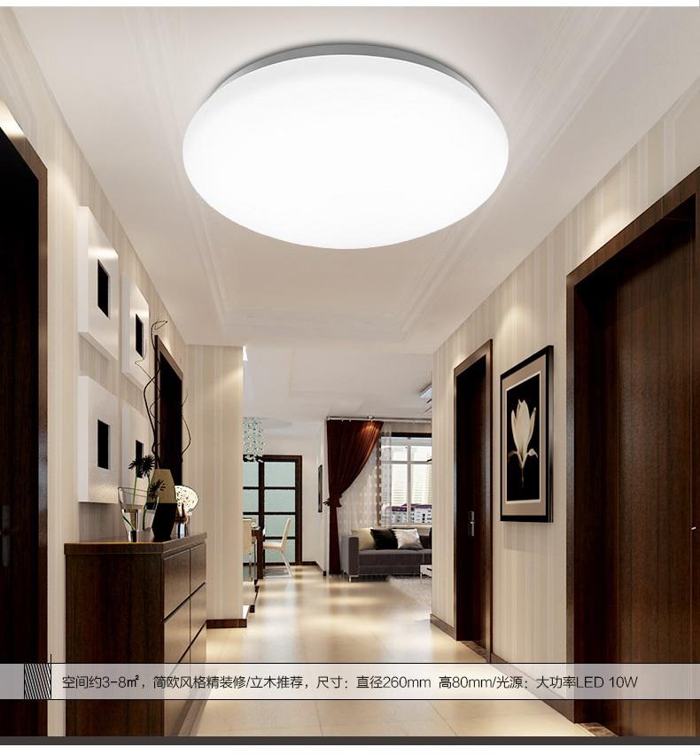 220V 10W LED Ceiling Light Acrylic Round Kitchen Light Modern Lamp