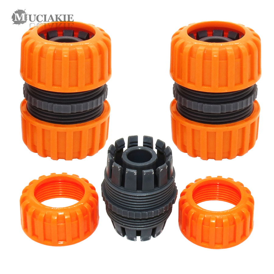 MUCIAKIE 2PCS 3/4 Inch Hose Repair Connecter Garden Tools Quick Connector Joints Repair Damaged Leaky Adapter Irrigation Adaptor