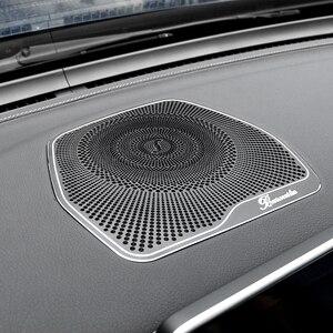 Image 3 - For Mercedes Benz W205 GLC C Class C180 C200 Car styling Audio Speaker Dashboard Loudspeaker Cover Stickers Trim Accessories LHD
