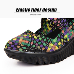 TKN 2019 Summer Women Platform Sandals Shoes Women Woven elastic Shoes Wedge Sandals multi colors cover shoes footwear Women 889 2