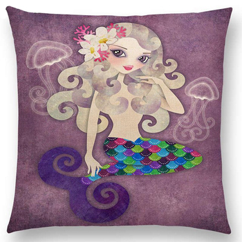 Mermaid Picture Cushion Covers