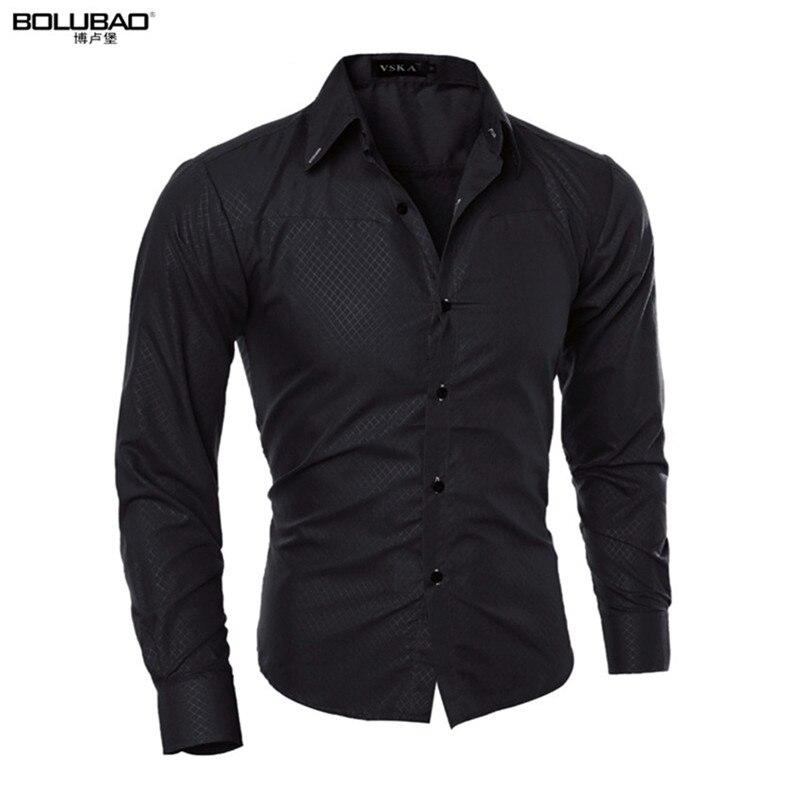 Men Shirt New Arrival Male Solid Color Mandarin Collar Business Tuxedo Long Sleeve Casual Shirt Cotton Dress Shirts M-5XL ...