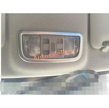 Para Honda City 2014 2015 2016 cromado Interior techo solar luz de lectura delantera cubierta molduras de Marcos accesorios de coche