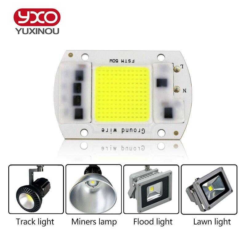 SMD COB Spotlight AC 220 В светодиодные лампы Чип бобы смарт-ic 20 Вт 30 Вт 50 Вт энергосбережения открытый лампы белый/теплый ужин яркий свет