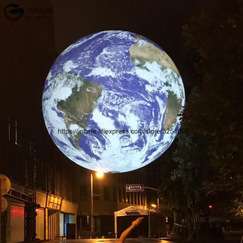 Decoration led light inflatable moon globe giant inflatable moon balloon for outdoor advertisement decoration inflatable bulb with light