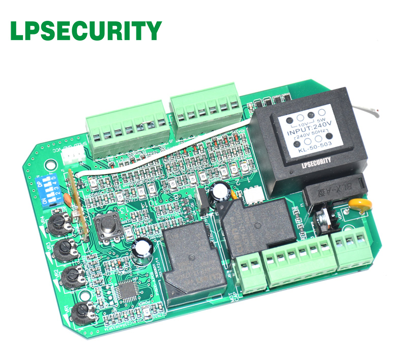 Image 3 - gate motor controller circuit board electronic card for sliding gate opener soft start function pedestrian mode 110V or 220V-in Access Control Kits from Security & Protection