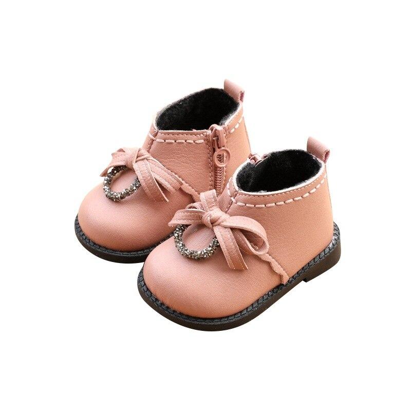 inverno moda menina sapatos de algodao botas 04