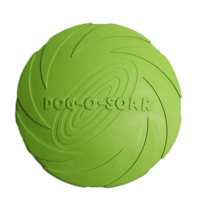 Eco-friendly Flying Discs Pet Dog Toys Outdoor Natural Silicone Material For Tooth Resistant Fetch Training Playing Product