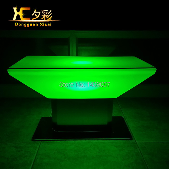 LED Luminous Bar Coffee Table Plastic Color Changing Home Decoration Furniture Living Room End Wine Drinking Table led luminous bar table plastic color changing coffee dining room garden drinking tables