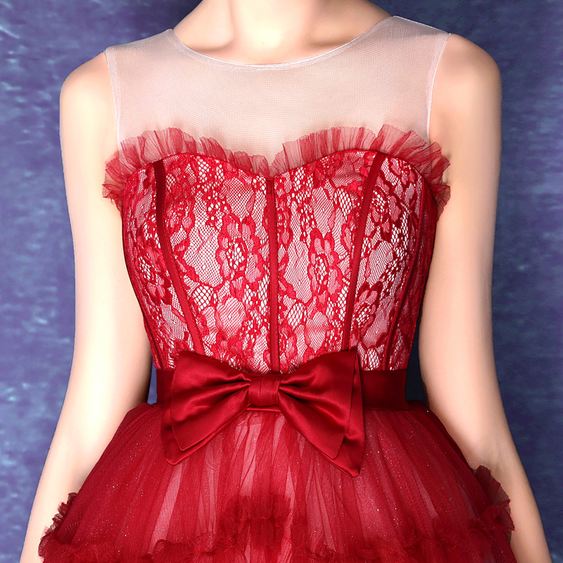 Vistoso Vestidos De Novia De Encaje Rojo Ideas Ornamento Elaboración ...
