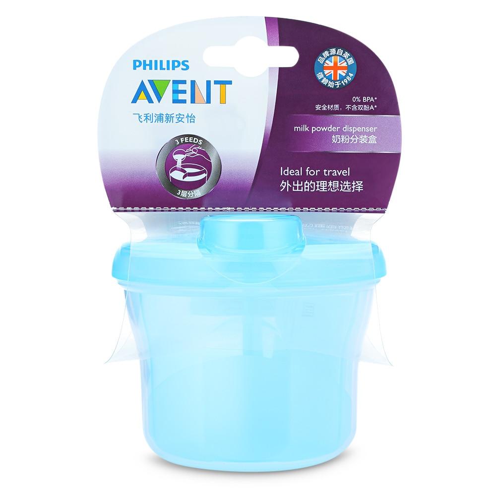 Philips Avent Tragbare Milch Pulver Formel Bpa Frei Pp Material 240 Ml Spender 3 Schraube-auf Container Baby Infant Fütterung Box Fütterung