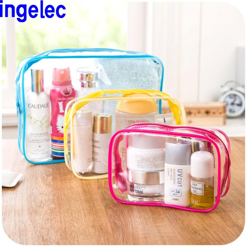 Pvc Transparent Waterproof Wash With Zipper Cosmetic Bag Travel Storage Bags Makeup Bag Stationery Organizer Women Gym Pouch Hot