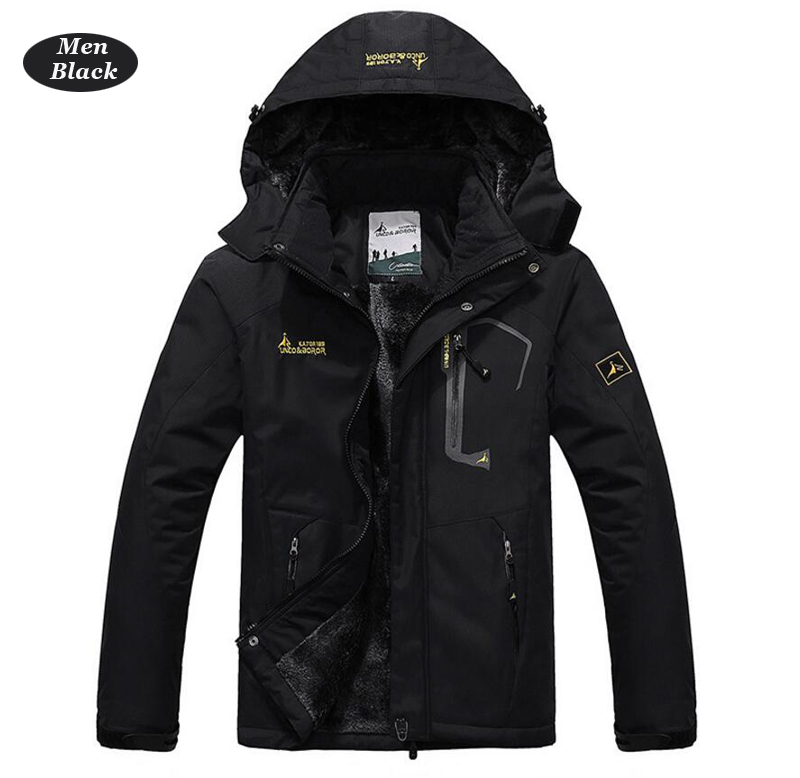 UNCO&BOROR winter jackets men women`s outwear fleece thick warm cotton down coat waterproof windproof parka men brand clothing 11