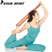Yoga fitness tube stretch resistance band professional yoga stretch cotton with auxiliary belt with genuine special