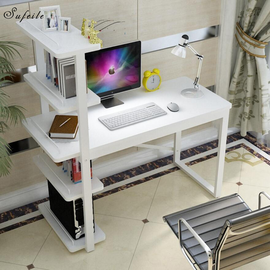 SUFEILE Home Computer Desk Laptop Stand Office Study Writing Desk New Design For Working Standing Laptop Computer Desk D50 arc shaped laptop storage holder aluminum alloy anti slip silicone tablet desk bracket for office home for macbook asus