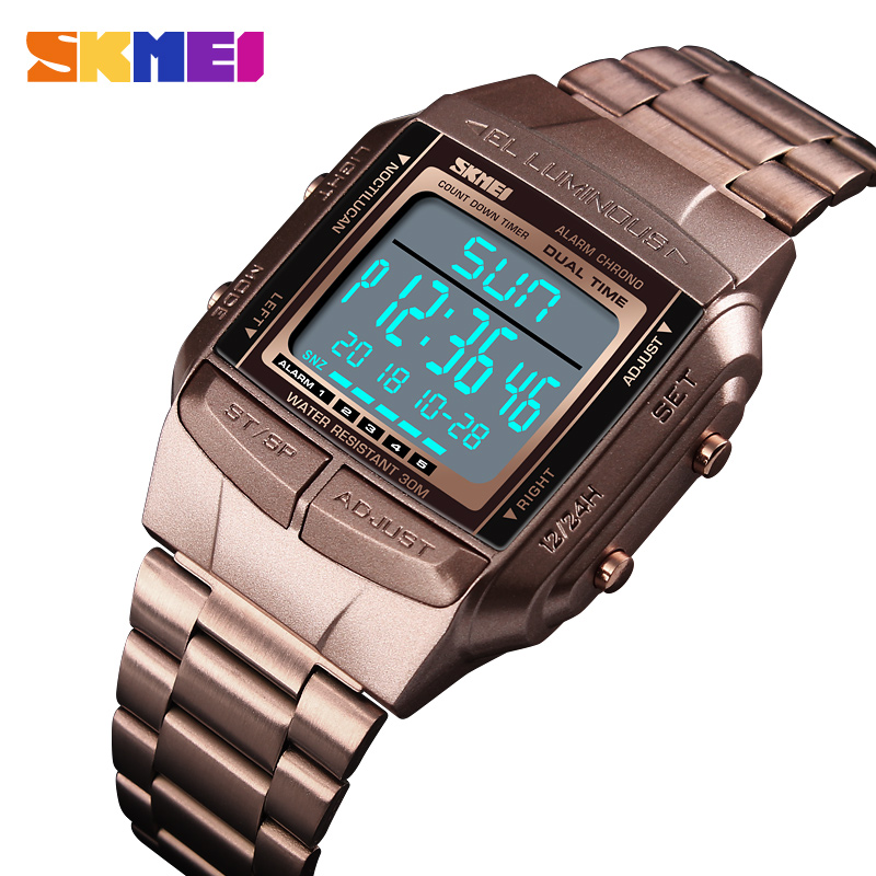 84210e454 Men s Watches Top Luxury Brand Famous LED Digital Watches For Man Clock  Sports Watch Men Herren