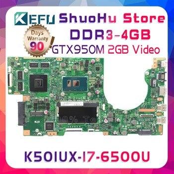 KEFU A501UB For ASUS K501UB K501UX K501U K501UW K501UQ A501U A501UX I7 laptop motherboard tested 100% work original mainboard