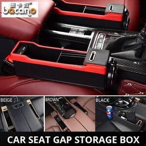 USB зарядка и автомобильное сидение щелевая коробка для хранения зерна autostoel Органайзер зазор щелевой наполнитель держатель так далее автом...