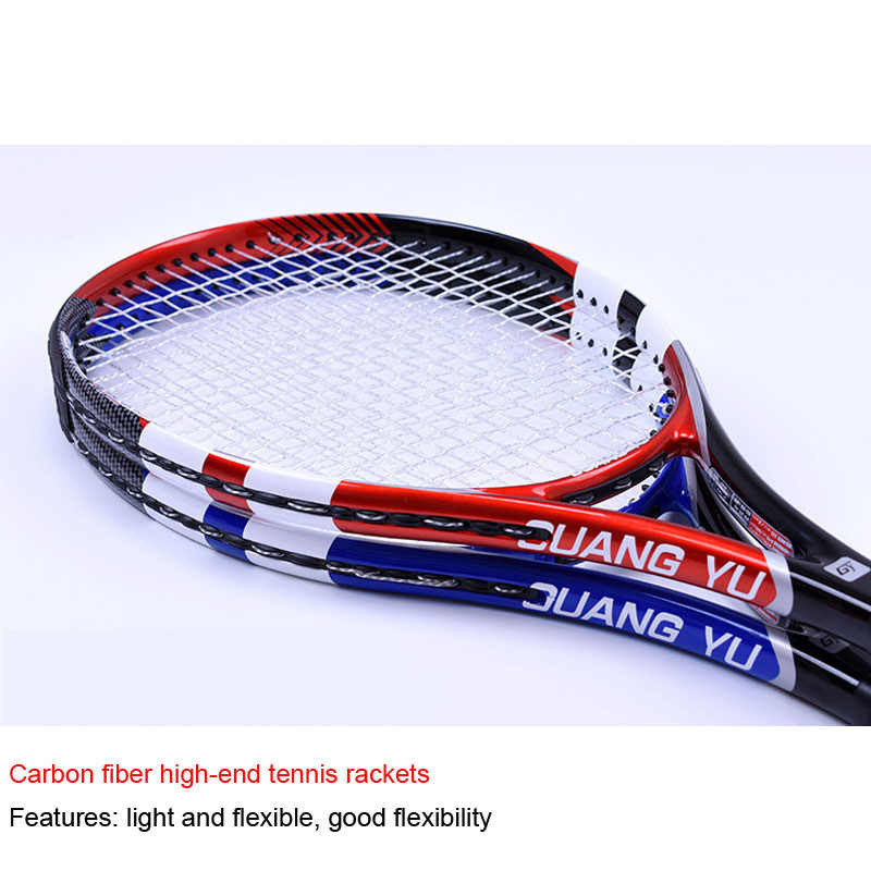 Super light tennis rackets authentic rackets professional men's and women's game rackets training and entertainment rackets