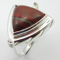 Solid Silver Fancy Red Jaspers Ring Size 8 Wedding SilverStarJewel Jewelry Unique Designed