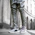 Nova chegada 2016 moda zíper harem pants homens hip hop sweatpants cordão elástico calças basculador casuais para homens
