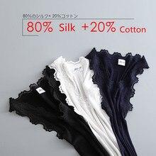 Gilet en dentelle pour femmes, coton + soie naturelle, gilet Slim élégant, Sexy, très élastique, à la mode