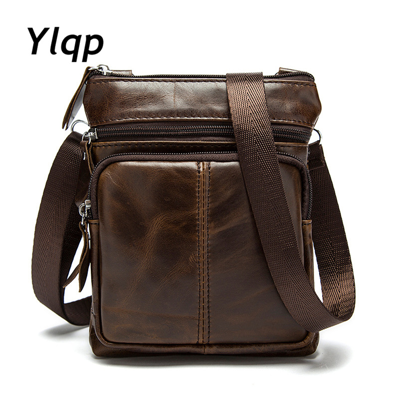 Ylqp Men Shoulder Bags Genuine Leather Bags Male Small Shoulder Handbags 2018 Luxury Designer Men Messenger Bag Cross Body Bag deelfel new brand shoulder bags for men messenger bags male cross body bag casual men commercial briefcase bag designer handbags