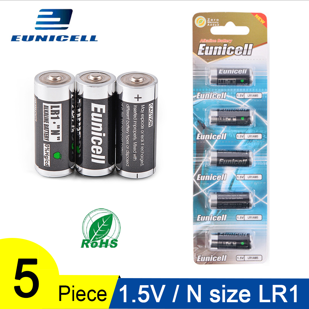 5PCS 1.5V N Size Alkaline Duty Battery Primary And Dry Batteries LR1 AM5 E90 AM5 MN9100 For Toys, Speaker, Remote Control Etc
