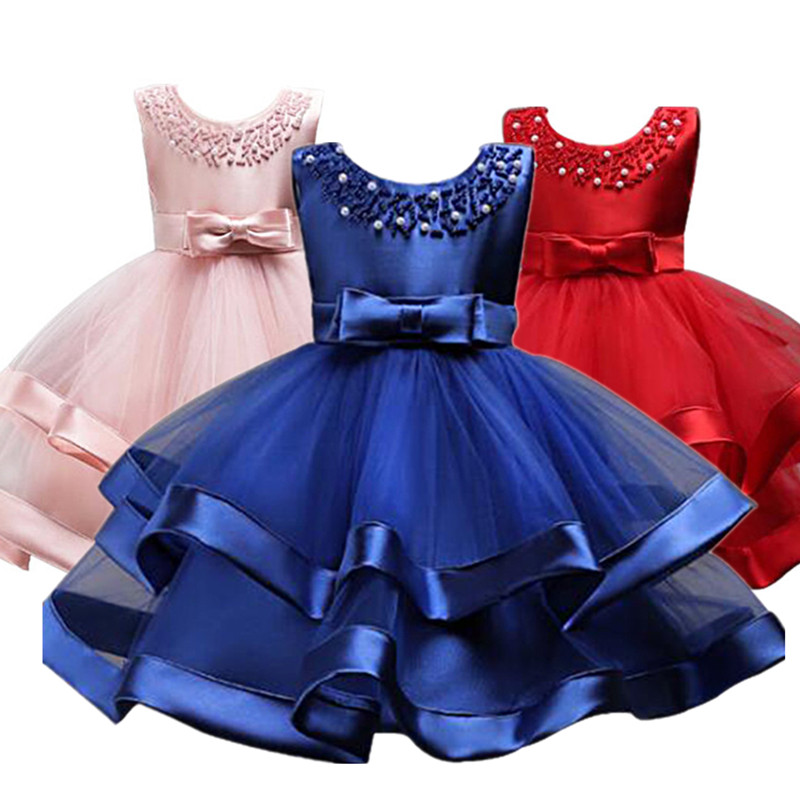 Flower Cake tutu Kids Clothing Elegent hand beading Girls Dresses for Children Princess Party Custumes 3-10 Years guilin guangxi hong source specialty rose flowers cake 240g6 gold handmade flower cake pastry boxed 2 boxes