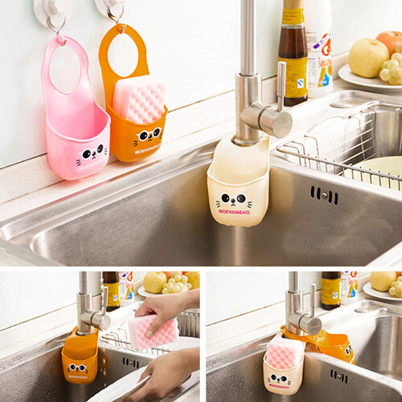 1PC Cute Cat Hot Home Creative Gadgets Store Content Silicone Hanging Box  Receive Storage Kitchen Bathroom Bedroom In Storage Boxes U0026 Bins From Home  ...