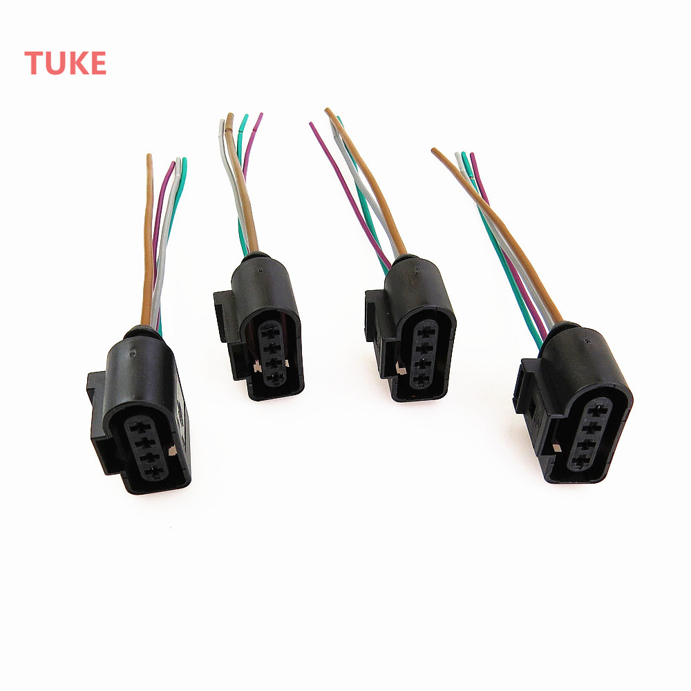 tuke qty4 engine ignition coil plug connect wiring harness for vw beetle eos jetta passat rabbit touareg 1j0973724 1j0 973 724 in ignition coil from  [ 1000 x 1000 Pixel ]