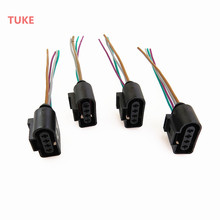 TUKE Qty4 Engine Ignition Coil Plug Connect Wiring Harness For VW Beetle Eos Jetta Passat Rabbit Touareg 1J0973724 1J0 973 724