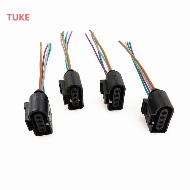 Wondrous Tuke Qty4 Engine Ignition Coil Plug Connect Wiring Harness For Vw Wiring 101 Ivorowellnesstrialsorg