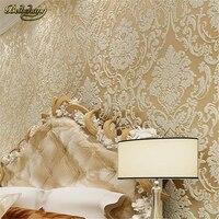 Beibehang papel de parede 3d tapeten Königliche blume damast schlafzimmer vintage hintergrund vliestapete für wohnzimmer wandbild