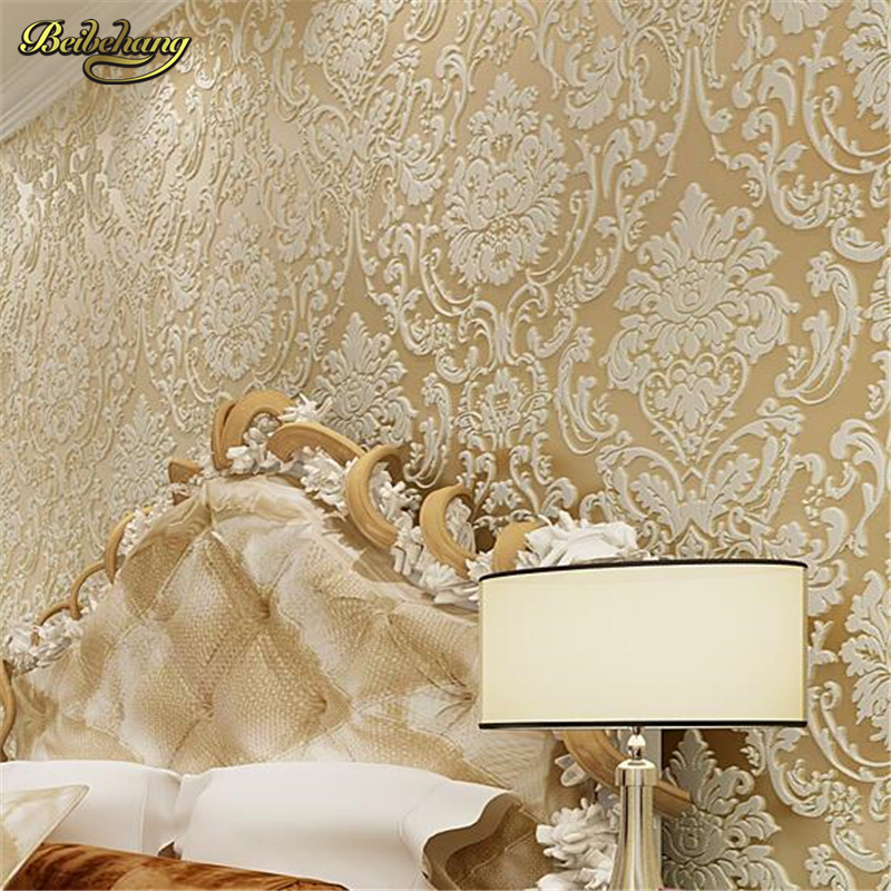 beibehang papel de parede 3d wall paper Royal flower damask bedroom vintage background non-woven wallpaper for living room mural beibehang mediterranean blue striped 3d wallpaper non woven bedroom pink living room background wall papel de parede wall paper