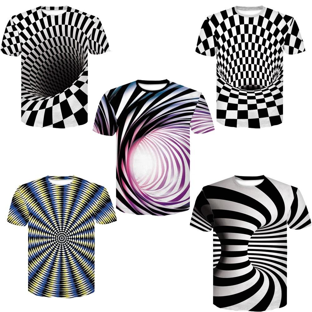 Devin Du Schwarz und Weiß Halo Hypnotischen Drucken T-Shirt Short Shirt Männer/Frauen 3D Print T-Shirt Kurzarm Casual top Hemd