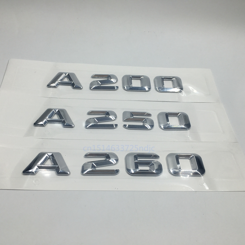 For Mercedes A Grade A200 A250 A260 Discharge Capacity Refitting Letters Emblem Badge Sticker For Benz Logo image