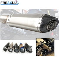 Universal 51 61MM Akrapovic Motorcycle Exhaust Pipe Muffler Escape For SC Project For Yamaha R15 MT09 R6 CB400 NC750X CBR