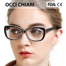 Gafas con montura OCCI CHIARI para mujer, lentes graduadas transparentes, montura de Gafas ópticas médicas, W COLOTTI