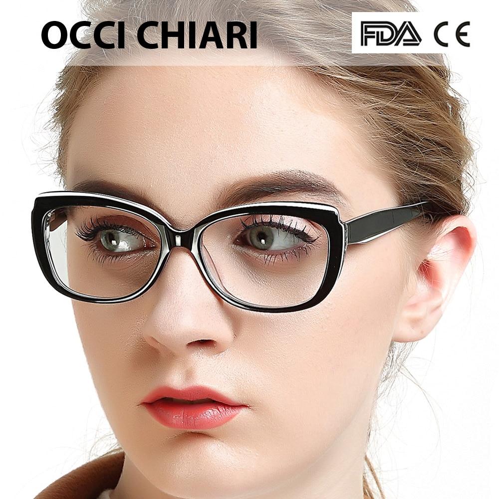 fa343a6648 Detail Feedback Questions about OCCI CHIARI Eyewear Frames Glasses Women  Clear Prescription Lens Medical Optical Glasses Frame Oculos Lunettes Gafas  W ...
