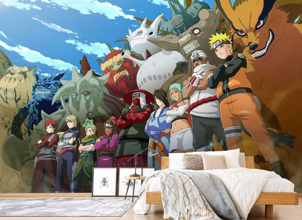 [Self-Adhesive] 3D Naruto Character Poster 55  Japan Anime Wall Paper Mural Wall Print Decal Wall Murals