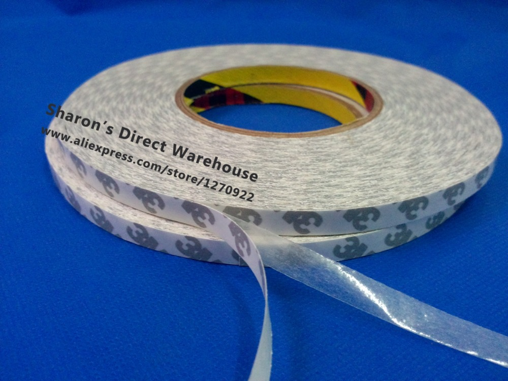 3mm~5mm~8mm~10mm~15mm~20mm~40mm~50mm Wide Choose, 50M Long, 3M 9080 White Double Sided Adhesive Tape For LCD Screen LED Lighting