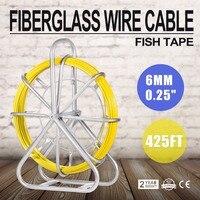 6 мм x 425' рыбы ленты из стекловолокна жильный кабель тянуть провода снимателя rodder