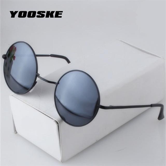 YOOSKE Unisex Round Sunglasses