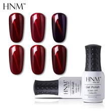 HNM кошачий глаз винно-красный 8 мл Лак для ногтей штамповка Гибридный лак Лаки Полуперманентная краска гель лак основа эмаль