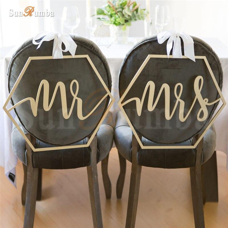2 шт./компл. Mr & Mrs Сельский свадебные знак идеи декора стулья висят знаки Mariage вечерние украшения из дерева Свадебные украшения реквизит