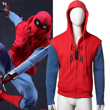 [STOCK] 2017 Hot Movie Spider-Man:Homecoming Hoodie Coat Jacket Cosplay Costume Cotton Sweater Unisex M-2XL Free Shipping New