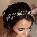 New European Style High-end Handmade Simulated-pearl Headpiece Gold Hairbands Wedding Hair Accessories Bridal Hair Jewelry Z0849