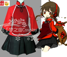 Cosplay vocaloid hatsune miku vocaloid3 china luo tianyi yuezheng ling trajes lolita conjunto completo